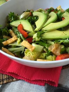 Asian Avocado Salad with Sesame-Grapefruit Dressing