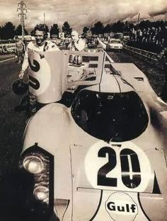 Steve McQueen - Le Mans. Yeah he drove 'em for real too... :)
