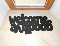 Floor mat: Welcome / Goodbye. Double message at your by Xatara