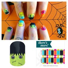 Jamberry nails Monster Mash There's More esbosak.jamberrynails.net