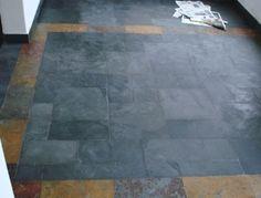 Piedras Naturales: Piedra pizarra grafito negra.