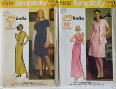 1970s Easy Sew Patterns-Maxi-Bust 34-Simplicity 5419 & 5612 Uncut. $7.00, via Etsy.