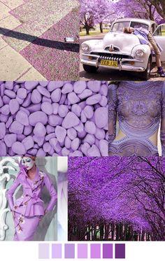 TREND #Summer2016 #Violett Sources@patterncurator   JACRANDA VERANDA