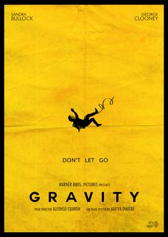 #Gravity, which made us fall in love with its astounding VFX  For astounding enhanced appearances, an emotional plot, a delightful setting, an extraordinary execution, thus considerably more, stop by your nearby theater and see the motion picture 'Gravity'. Obviously, you won't be baffled!  #Minimalistic #Poster designed by : @Aditya Vempaty Dhotre, Aditya Dhotre