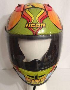 "Icon Motorcycle Helmet ""Live Fast""  Size Medium (AB) #Icon #Motorcycle"