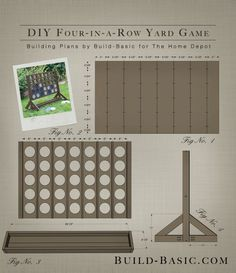 Best Yard Games for an Outdoor Party Four in a Row Yard Game - Project Plans by Build Basic www. Outdoor Yard Games, Diy Yard Games, Diy Games, Backyard Games, Outdoor Fun, Outdoor Parties, Outdoor Games For Adults, Giant Yard Games, Indoor Games