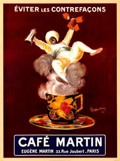 Cafe Martin vintage French advertising poster art by Leonetto Cappiello