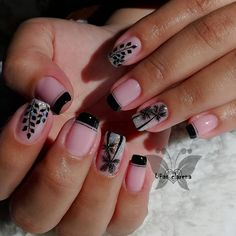 Butterfly Nail Designs, French Pedicure, Dream Nails, Perfect Nails, Nail Manicure, Beauty Nails, Lily, Nail Art, Drawings