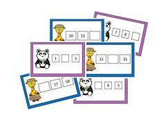 Atelier numération : suite numérique des nombres jusqu'à 101 - Le coffre de crapi, zil