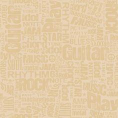 Indoorwallpaper.com - ZB3126-Boys Will Be Boys Rocker Text Wallpaper-khaki…