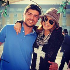 """#LourençoOrtigão publica foto com a namorada, #SaraMatos: """"Obrigado sábado!!!:))"""""""
