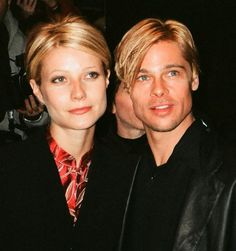 Gwyneth Paltrow and Brad Pitt had matching hair - Brad Pitt, is that you?! See how his appearance has changed through the years