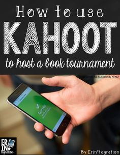 How to Use Kahoot to host a book tournament. What a great idea!