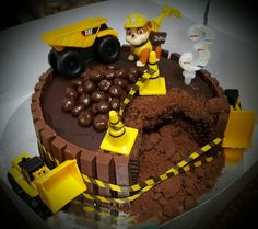 Digger Birthday, Paw Patrol Birthday Theme, Baby Boy Cakes, Cakes For Boys, Rubble Paw Patrol Cake, Dump Truck Cakes, Thomas Birthday, Nautical Cake, Boy Birthday Parties