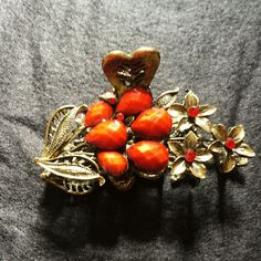 Sale! Red Flower Hair Clip