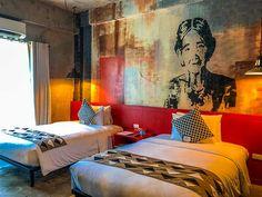 The Henry Hotel Cebu: Minimalist Edifice meets Class | Freedom Wall Hotel Lobby, Hotel S, At The Hotel, Marilyn Monroe Room, Freedom Wall, Fluffy Bedding, Concrete Interiors, Cebu City, House Restaurant