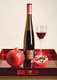 Dessert Wine and Pomegranate