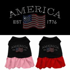 An Independence Day dress for your little girl.  A poly/cotton sleeveless shirt with a cute ruffle sewn onto the bottom to give this dress the perfect feminine flair!  Double stitched in all the right places for comfort and durability! http://www.fldfurryfriends.com Price $14.48