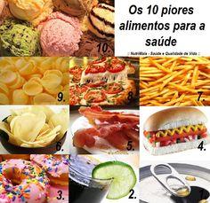 Os 10 alimentos considerados piores para a saúde