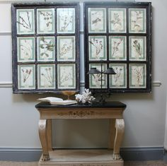 Paintings & Mirrors - A good quality pair of contemporary framed pressed flowers.