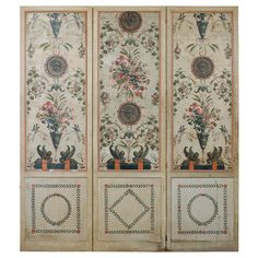 Interesting Neoclassical Style French Decorative Screening Panels ...