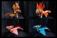 Plush dragons mix II by hontor on DeviantArt