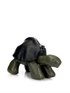 Christopher Raeburn Tortoise bi-colour leather cross-body bag