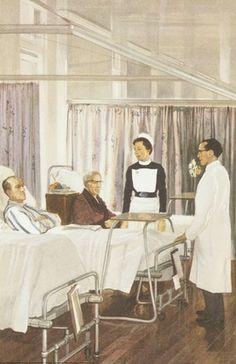 Doctor visiting patients - Ladybird 1963 via Ladybirdprints.com
