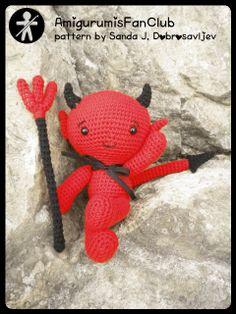 Crocheted by AmigurumisFanClub. Pattern by Pepika ...Baby devil!!!