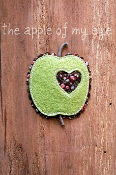 The Apple Of My Eye Brooch by madebyagah on Etsy, $12.00