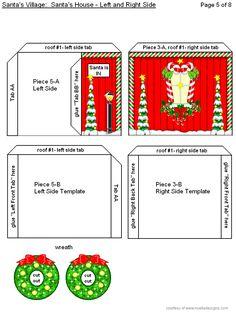 3-D Santa's House Page #5