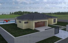 3 Bedroom House Plan - My Building Plans Pergola Plans, Diy Pergola, Pergola Kits, My Building, Building Plans, Flat Roof House, Shade Canopy, Bedroom House Plans, Pergola Shade