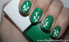 awsome nail design for Irish day - Nail Designs and Nail Art