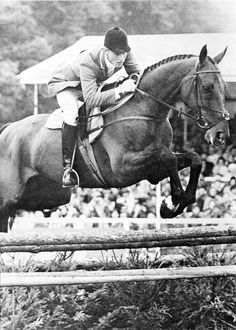Bruce Davidson and Irish Cap, Davidson was the first American to win the World Championships at Burghley