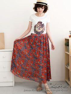 CliPick 的Catworld 的宮廷風印圖百摺雪紡長裙 http://www.clipick.com/item?sid=100738