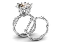 18k White Gold Elengant and Classic Substantially New Fashion