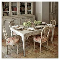 Shabby Chic Home Decor French Furniture, Shabby Chic Furniture, Shabby Chic Decor, Painted Furniture, French Decor, French Country Decorating, Dining Decor, Dining Table, Dining Rooms