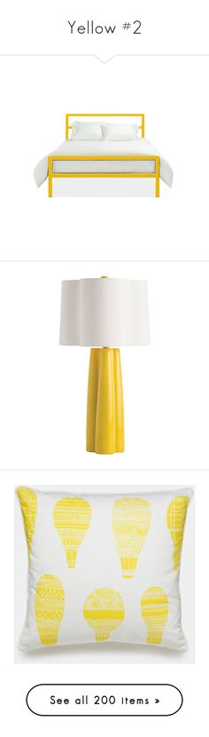 """Yellow #2"" by missblue1 ❤ liked on Polyvore featuring home, lighting, table lamps, crackle lamp, arteriors, arteriors lamps, colored lights, colored lamps, home decor and throw pillows"