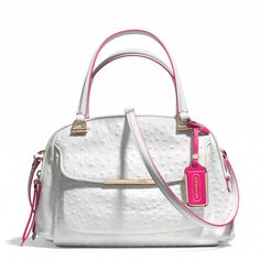 Coach :: MADISON SMALL GEORGIE SATCHEL IN OSTRICH EMBOSSED EDGEPAINT LEATHER