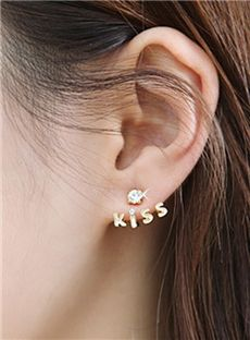 Pretty Korean Style Rhinestone Earring Accessory -80%
