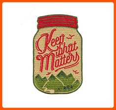 Asilda Store Keep What Matters Embroidered Sew or Iron-on Patch - Dont forget to travel (*Amazon Partner-Link)