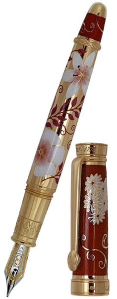 David Oscarson Carl Linnaeus Fountain Pen Ruby Red