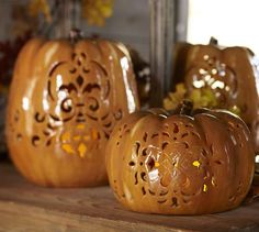 How to Make Paper Mache Pumpkin Luminaries
