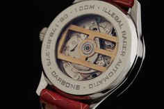 Carbon8 Illegal Racer automatic ... the view of the C8 logo rotor