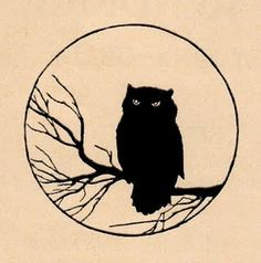 RIGHT ANKLE TATTOO IDEA | Black owl silhouette, more detailed owl  eyes
