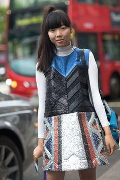 29e446bded61 Street Style  London Fashion Week Street Spring 2014 - Street Fashion