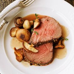 Our Slow-Roasted Beef Tenderloin is paired great with a spicy Syrah! Find more pairings here: http://www.bhg.com/recipes/dinner/food-and-wine-pairings/?socsrc=bhgpin021215slowroastedbeeftenderloin&page=13