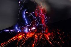 Volcanic Lightning - Sometimes, when a volcano explodes, it releases a powerful amount of energy into the atmosphere. This sudden jolt can result in strong reactions that ultimately produce lightning from within an eruption!
