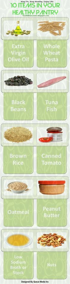 10 Items in Your Healthy Pantry