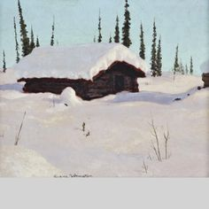 """""""A Lone Land,"""" Frank Johnston, oil on board, 9.6 x 11.6"""", private collection."""